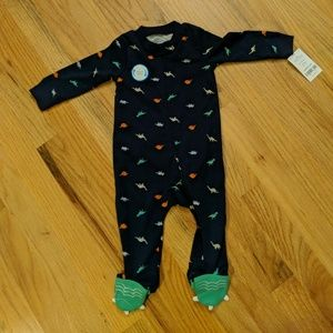 Carter's Dinosaur Footed Outfit